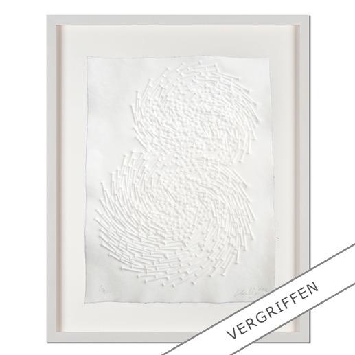 """Günther Uecker: """"Both"""" - Prägedruck auf 300-g-Büttenpapier  Auflage: 50 Exemplare   Exemplar: e. a.  Blattgrösse (B x H): 50 x 70 cm   Grösse mit Rahmung: 68 x 88 cm"""