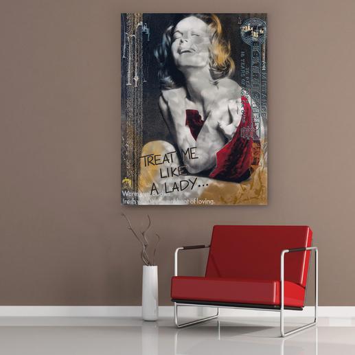"""Like a Lady"", 100 x 130 x 0,3 cm."
