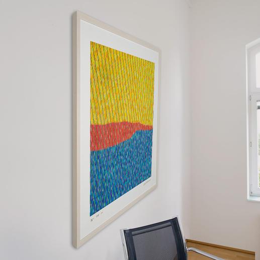 Die Technik von Antonio Marra lässt das Werk aus jeder Perspektive anders erscheinen.