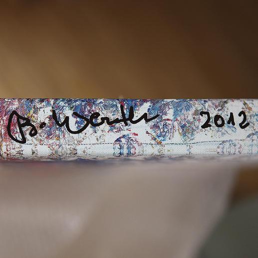 Handsignatur des Künstlers auf der Rahmenseite.