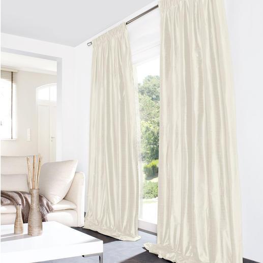 """Vorhang """"Stefano"""", 1 Vorhang Von luxuriöser Wildseide kaum zu unterscheiden. Dennoch pflegeleicht und erfreulich erschwinglich."""