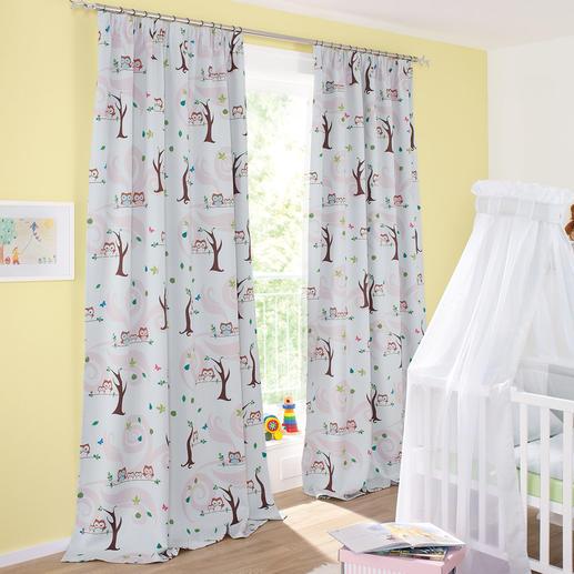 Vorhang Little Owls - 1 Stück Trend-Tier Eule: Jetzt als Verdunkelungsvorhang fürs Kinderzimmer. Genau richtig für junge Fashion-Fans.