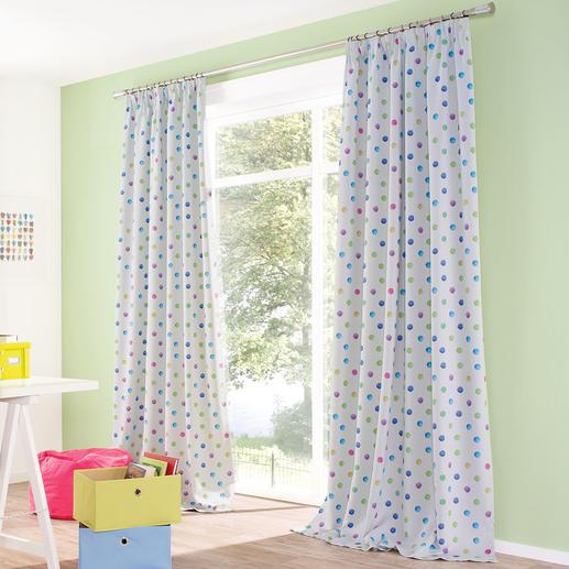 Verdunkelungsvorhang Funny Dots - 1 Stück - Seltener Glücksgriff: Der Kinderzimmervorhang ohne Altersbegrenzung. Mit Verdunkelungsfunktion.