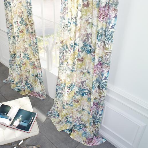 """Vorhang """"Benu Splash"""", 1 Vorhang Einst PET-Flaschen. Heute der wohl umweltfreundlichste Designervorhang."""