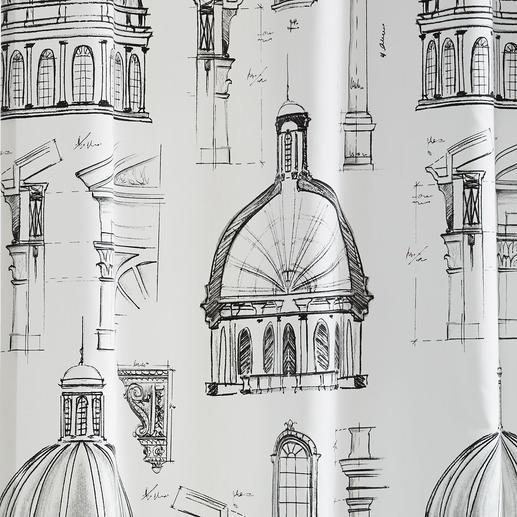 """Vorhang """"Capitol"""", 1 Vorhang Renaissance trifft Moderne. Und Schwarz trifft Weiss."""