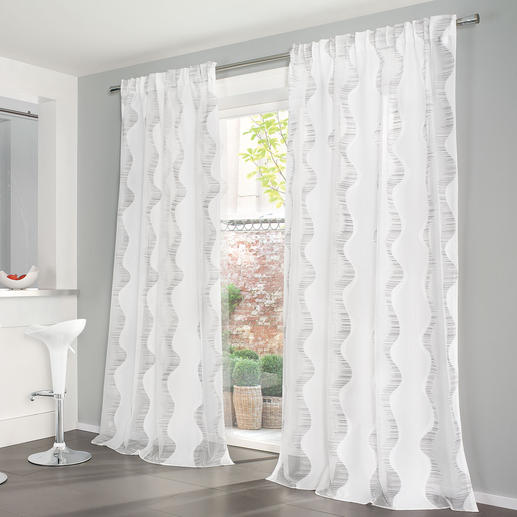 Vorhang Fenina - 1 Stück Moderner Lässig-Look – ganz traditionell und  aufwändig gefertigt.