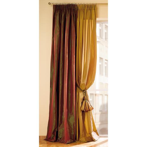 Vorhang Taffetta - 1 Stück Prachtvoll changierender Taft – zeitlos schön und in vielen Jahren  noch genauso aktuell.