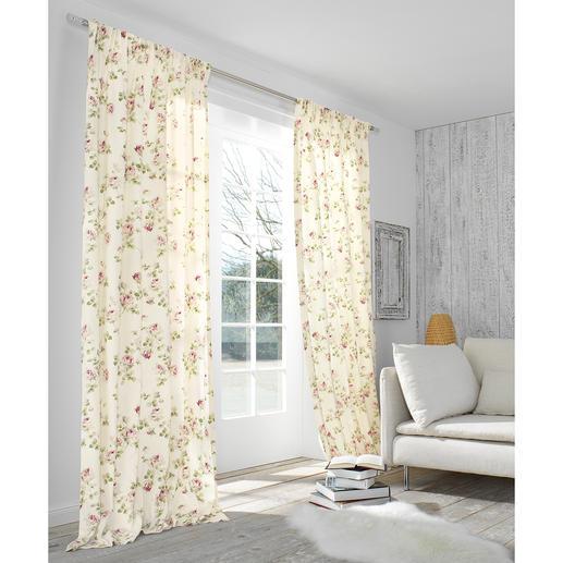 """Vorhang """"Kesa"""", 1 Vorhang - Romantisches Rosen-Dekor. Der Evergreen des Cottage-Stils, original aus Grossbritannien."""