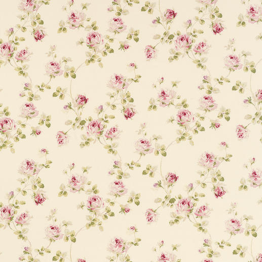 Vorhang Kesa - 1 Stück Romantisches Rosen-Dekor. Der Evergreen des Cottage-Stils, original aus Grossbritannien.