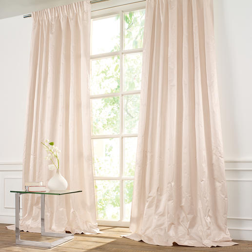 "Vorhang ""Sonatine"", 1 Vorhang Seltene Satinseide: Griffig. Glatt. Modern. Elegant."