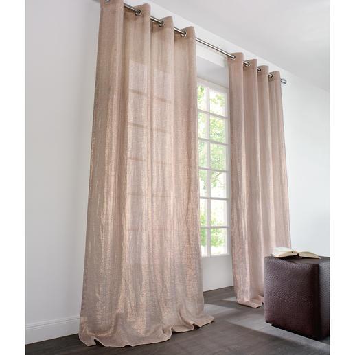 """Vorhang """"Fenix"""", 1 Vorhang - Hightech und Natur in perfekter Harmonie: Angesagter Metallic-Look auf grobem Leinen."""