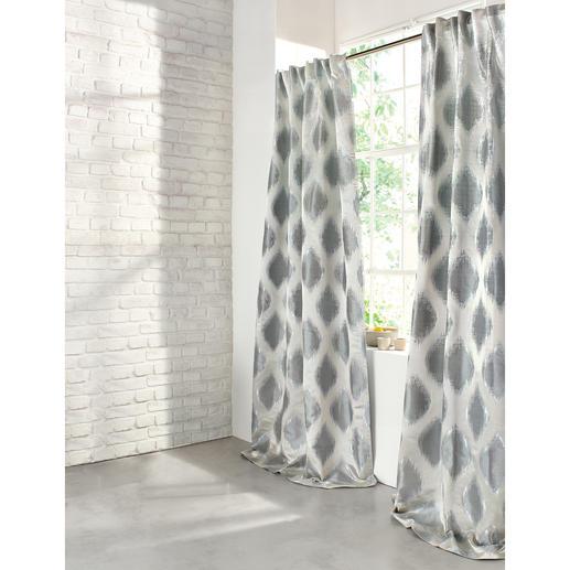 """Vorhang """"Arbus"""", 1 Vorhang Ikat-Muster und Metallic-Look: Aus Mode-Trends wird Interior-Design."""