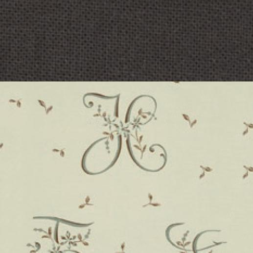 Vorhang Alphabet - 1 Stück Dekorativ geschwungene Buchstaben setzen neue Akzente im traditionellen Landhausstil.