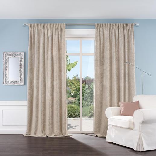 """Vorhang """"Ibisco"""", 1 Vorhang - Luxuriöses Jacquardgewebe in selten schwerer, fülliger Qualität.  Perfekt auch als Kälteschutz."""