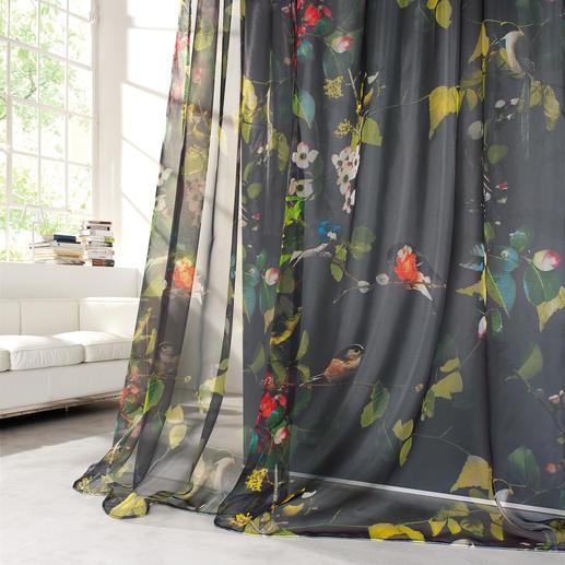 Store/Gardine Ophelia - 1 Stück Spektakulär: Tropischer Paradiesgarten, fotorealistisch und farbintensiv.
