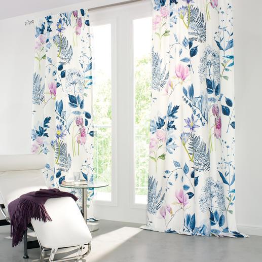 """Vorhang """"Mokuren"""", 1 Vorhang - Überraschend filigran und detailgenau: Digital gedrucktes"""