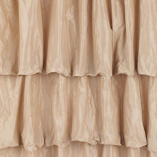 Vorhang Lussuria - 1 Stück Eines Ballsaals würdig: Der Stufenvorhang aus schimmerndem Taft.