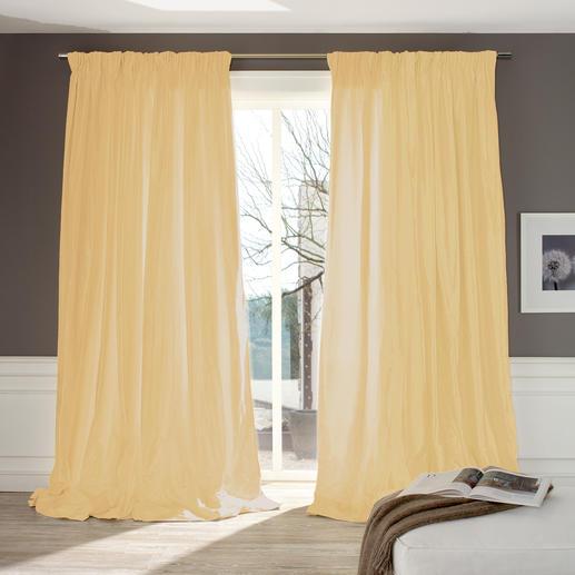 """Vorhang """"Cypres"""", 1 Vorhang - Selten: Erlesene Shantung-Seide mit fast vollen 3 Metern Breite."""