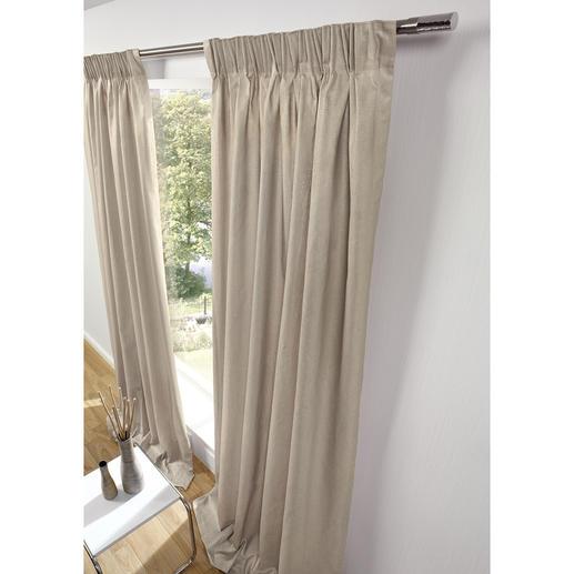 """Vorhang """"Gobi"""", 1 Vorhang - Seltenes, gechintztes Leinen: Edle Optik.  Strapazierfest und dauerhaft formbeständig."""