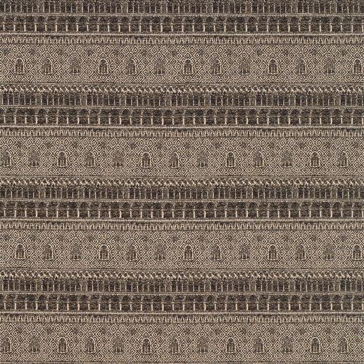 "Vorhang ""Ducale"", 1 Vorhang Der Dogenpalast als jacquardgewebte Reproduktion eines antiken Stichs."