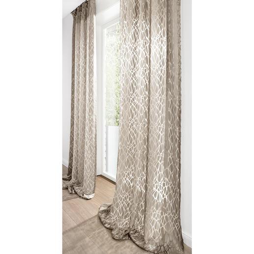 """Vorhang """"Ashley"""", 1 Vorhang Wohn-Trend Stein-Optik – hier selten leicht und licht."""