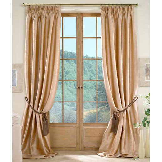 """Vorhang """"Villa Medici Relivo"""", 1 Vorhang Endlich ein Seidenvorhang, der ohne Futterstoff auskommt."""