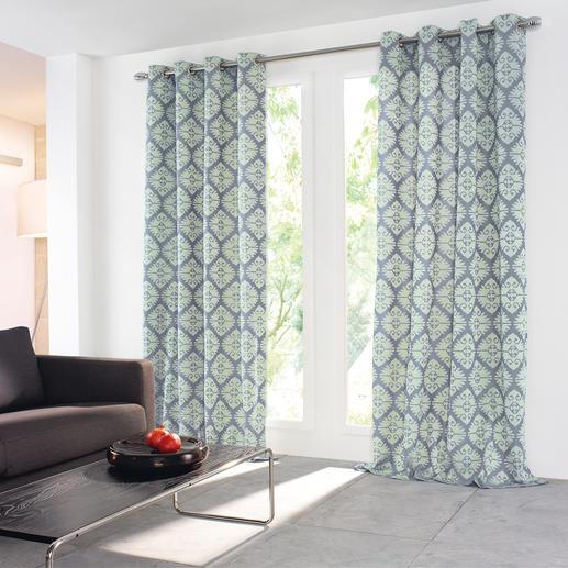 """Vorhang """"Evolution"""", 1 Vorhang - Relief-Struktur im trendigen Kelim-Dessin.  Kunstvoll und materialreich gewebt."""