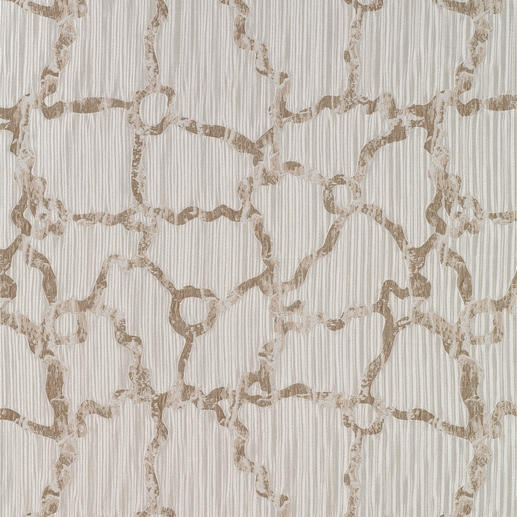 """Vorhang """"Boulevard"""", 1 Vorhang Trend-Duo Creme & Gold: Modisches Makeover für Ihre Fenster."""