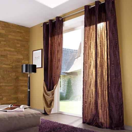 """Vorhang """"Lasalle"""", 1 Vorhang 2 Vorhänge in einem. Und innerhalb weniger Minuten ein neuer Look."""