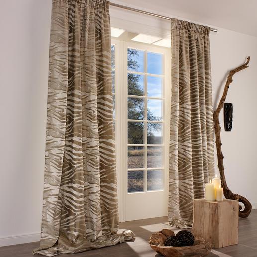 """Vorhang """"Jackson"""", 1 Vorhang - Messe-Highlight. Und Modethema: Naturtöne und Animal-Prints."""