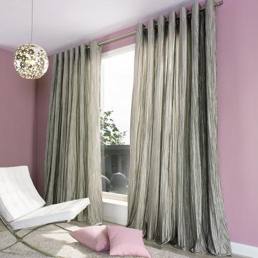 """Vorhang """"Brenda"""", 1 Vorhang - Die voluminöse Wirkung eines wattierten Matelassé-Gewebes.  Aber lichter, leichter, fliessender."""