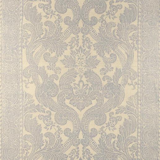 Vorhang Dinastia - 1 Stück Die Premium-Klasse der Dekorationsstoffe: Rohseide mit Platin. Aufwändig von Hand bedruckt.