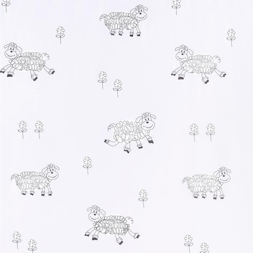 Store Sheep - 1 Stück Die schönste Vorlage zum Schäfchenzählen.  In Überbreite von 3 Metern gewebt: Keine Ansatznaht im zarten Voile.