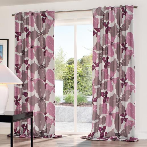 """Vorhang """"Dalias"""", 1 Vorhang - Modernes Design. Trendige Farben. Helle Rückseite.  Und doch 100 % Verdunkelung."""