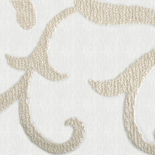 Vorhang Impression - 1 Stück Dreidimensionale Ornamente aus plastischer Dochtstickerei veredeln diesen Vorhang.