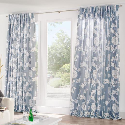"Vorhang ""Medusa"", 1 Vorhang Seltenes, gepolstertes Matelassé-Gewebe mit besonders bauschigem Fall."