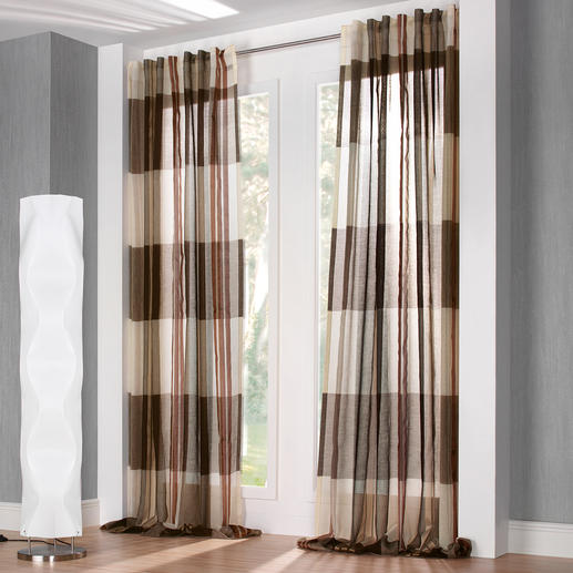 """Vorhang """"Mezzo"""", 1 Vorhang - Trend-Tipp zu Lounge-Style und Loft-Charakter: Der klare, geradlinige """"Mezzo""""."""