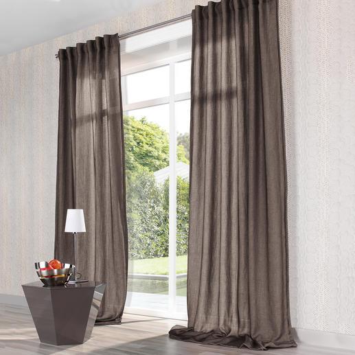 Vorhang Mirage - 1 Stück Seltenes Doppelgewebe aus duftigem Chiffon und lockerem Panama.