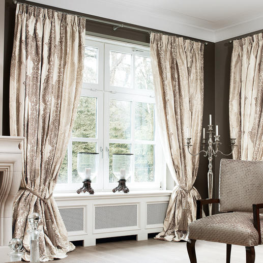 Vorhang Sulpice - 1 Stück Luxus pur: Reine Seide, im neuen Eloxalverfahren gefärbt.