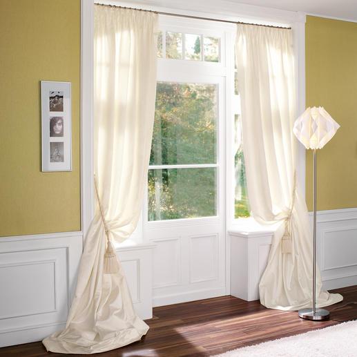 """Vorhang """"Tanita"""", 1 Vorhang - Ganz in Weiss – aber mit einer dritten Dimension."""