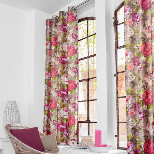 """Vorhang """"Medicis"""", 1 Vorhang Luxuriöse Seiden-Optik und nobler Designer-Chic."""