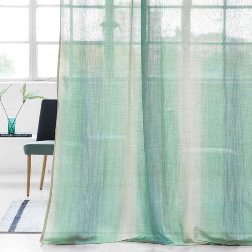 """Vorhang """"Cassano"""", 1 Vorhang Effektvolle Ombré-Streifen. Aktuelle Farben. Trendige Leinen-Optik."""