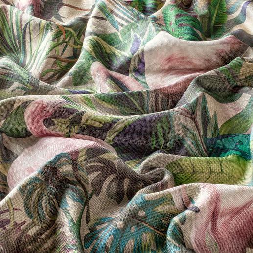 Vorhang Flamingo Botanico - 1 Stück Zweifach trendgerecht: Flamingos und Botanik, vereint im Exklusiv-Dessin von Carlucci di Chivasso.