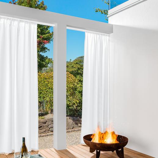 Vorhang Boston - 1 Stück Der flammhemmende unter den Outdoor-Vorhängen. Schützt vor Sonne und Funkenflug.