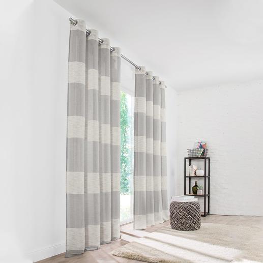 Vorhang Living - 1 Stück Pflegeleichter Naturlook und Streifen: Klassiker, Allrounder und Preis-Highlight.