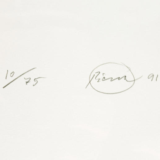 Jeder Druck ist vom Künstler handsigniert und nummeriert.