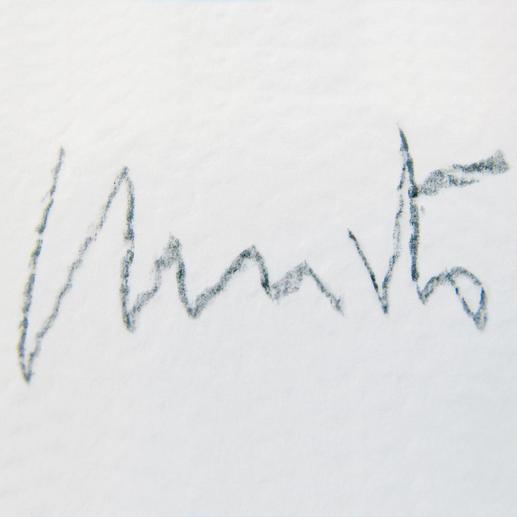 Jeder Offsetdruck wird von Christo handsigniert.