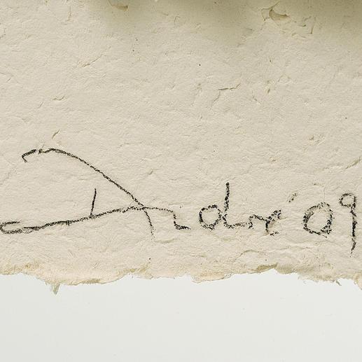 Handsignatur des Künstlers.
