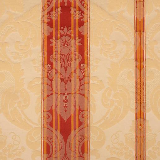 Vorhang Le Roi - 1 Stück Ein königliches Kleinod: feudaler Streifendamast mit barocken Ornamenten.