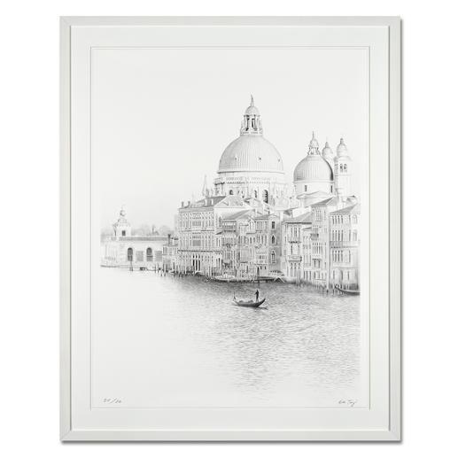 """Koshi Takagi: """"Venedig"""" - Fotorealistische Bleistiftzeichnung mit über 1 Million handgemalten Strichen. Die dritte Schwarz-Weiss-Edition Koshi Takagis (die erste ist bereits ausverkauft). 30 Exemplare."""